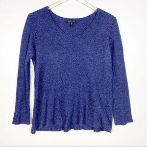 Eileen Fisher Cashmere Angora V-Neck Sweater